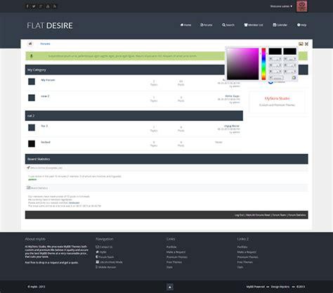 mybb themes flatdesire flat mybb forum theme on behance