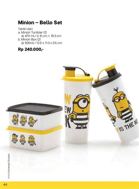 Tupperware Minion Giggle Canister 2pcs 087837805779 tupperware 2017 oktober katalog tupperware tupperware