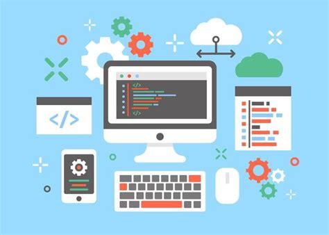 design concept software engineering software engineers concept design vector download free