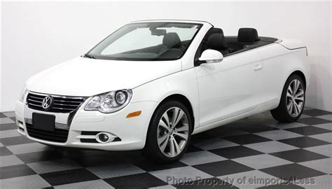 volkswagen convertible eos white 2008 used volkswagen eos vr6 gps navigation convertible at