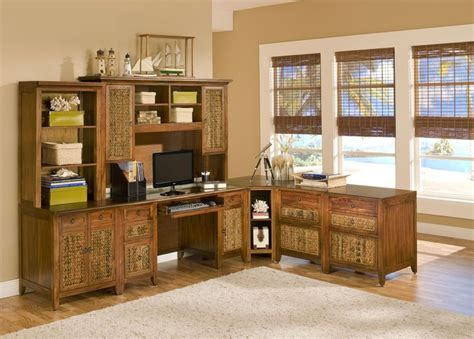 16 Best Rattan And Wicker Office Furniture Images On Rattan Computer Desk