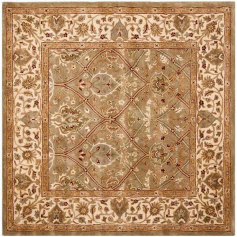 Safavieh Persian Legend Light Green Beige 6 Ft X 6 Ft 6 X 6 Area Rugs