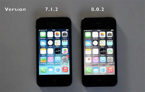 iPhone 4S iOS 7 vs iOS 8 (Video)