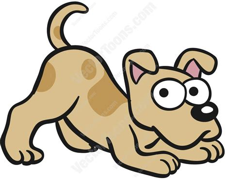 puppy vector brown scratching its left ear copy clipart vector