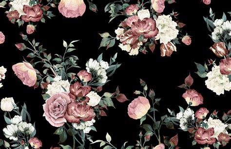 Floral In Pink vintage pink floral wallpaper mural muralswallpaper