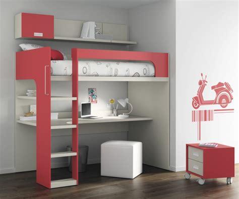 Formidable Chambre D Ado Fille Moderne #6: unique-design-du-lit-mezzanine-et-bureau-contemporain.jpg