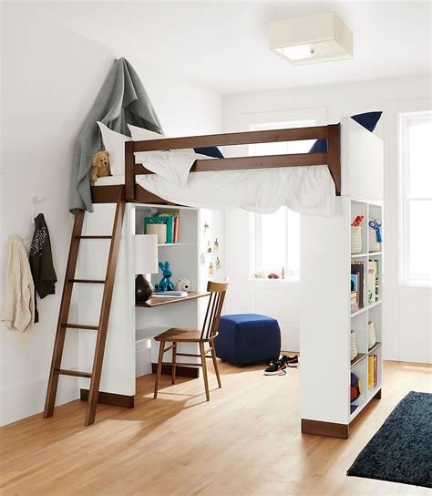 bunk loft with desk moda modern wood kids loft moda loft beds with desk and