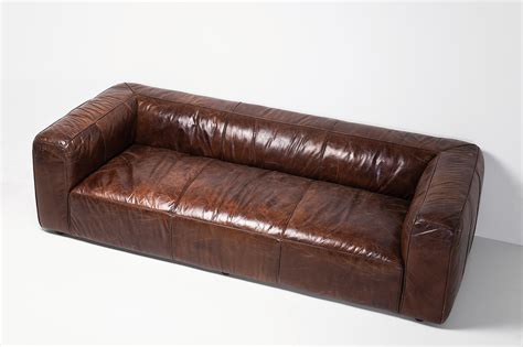 leder braun dewall sofa cubetto leder braun 3 sitzer rindsleder