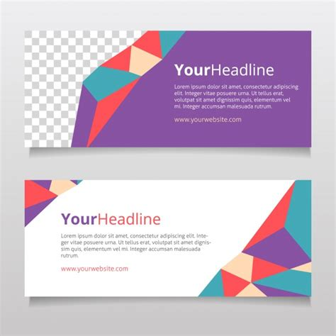 layout banner vector free modern banner design vector free download