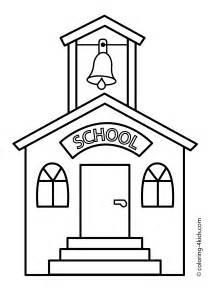 school coloring page free coloring pages of school time