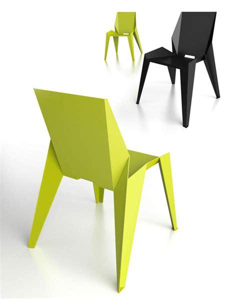 Origami Furniture Design - novague edge chair chaise origami en aluminium chairs