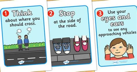 printable road safety banner road crossing safety posters safety safe crossing road