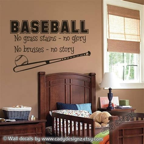 boys baseball bedroom ideas love it baseball wall decal sports boys room decor vinyl