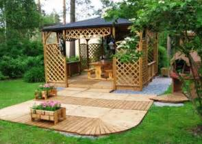 Landscaping Design Ideas For Backyard 22 Beautiful Garden Design Ideas Wooden Pergolas And Gazebos Improving Backyard Designs
