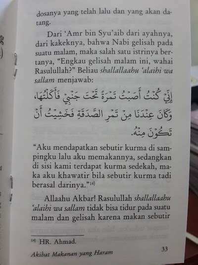 Buku Kitab Akibat Makanan Yang Haram buku saku akibat makanan yang haram toko muslim title