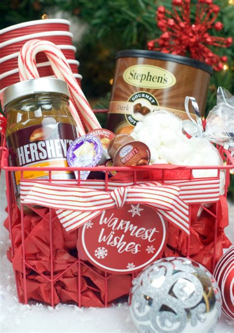 hot chocolate gift basket for christmas fun squared