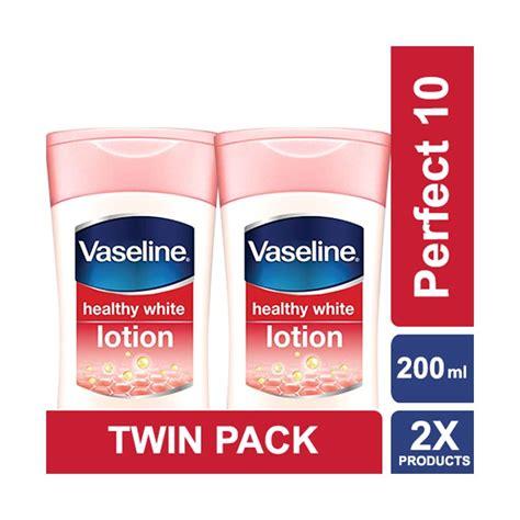 Vaseline Lotion Healthy White 10 200ml Pack 1 jual vaseline lotion healthy white 10 200 ml