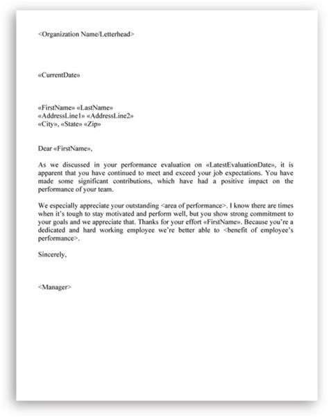 Appraisal Cover Letter Exles Sle Letter Of Employee Performance Evaluation Cover Letter Templates
