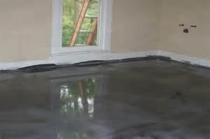 project in progress bathroom epoxy floor coating