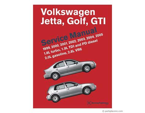 Vw Mk4 Jetta Amp Golf Bentley Repair Manual Free Tech Help