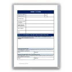 Permit To Work Template by Permit To Work