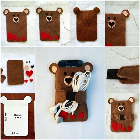 wonderful diy teddy cellphone