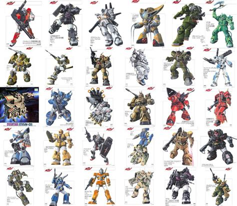 gundam mobile suits gundam mobile suit gundam msv mobile suit variations