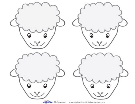 new year sheep mask template sheep free colouring pages
