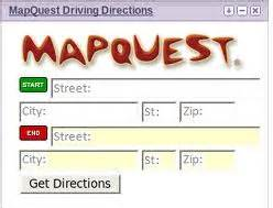 Get mapquest driving directions instantly