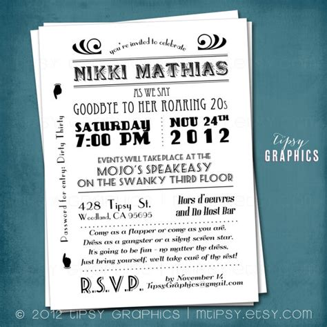 invitation templates 1920s http webdesign14