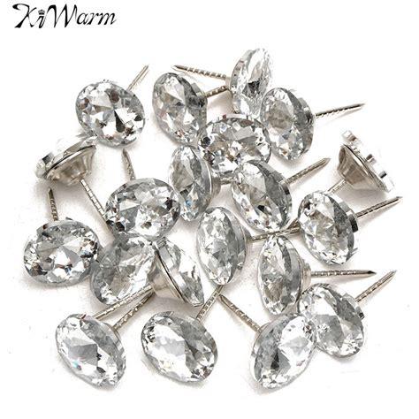 upholstery diamond buttons 20pcs new diamond pattern crystal upholstery nails button