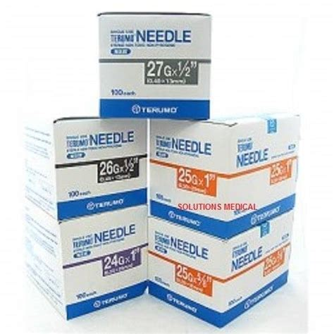 Terumo Needle 25g terumo hypodermic needles 25g x 1 quot 100 box 25mm ebay