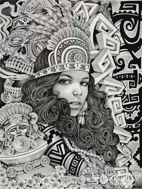 imagenes aztecas cholas 17 best images about chicano art on pinterest chicano
