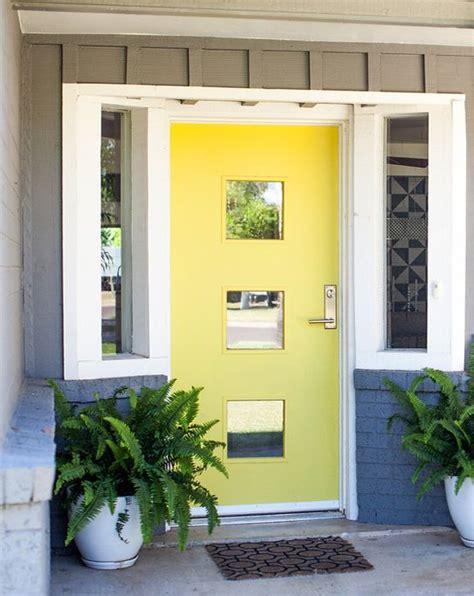 bright yellow door front door makeover home design yellow front doors and