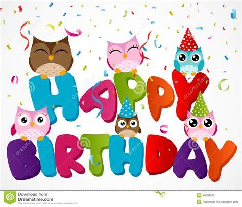 imagenes de cumpleaños numero 23 tarjeta del feliz cumplea 241 os con el b 250 ho ilustraci 243 n del