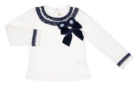 Brocade Nana Shirt dolce petit white decorated t shirt blue floral