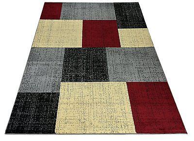 vegas area rug large squares black 2 x 3 surya red black and cream rugs roselawnlutheran