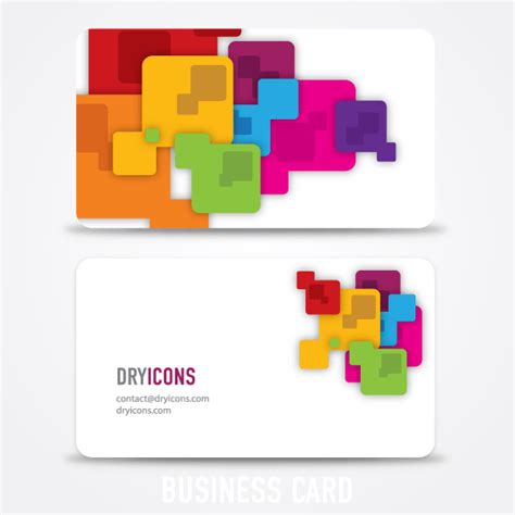 square card template abstract square business card design template 123freevectors