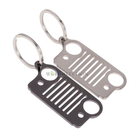 Jeep Key Ring Stainless Steel For Jeep Grill Key Chain Keychain Keyring