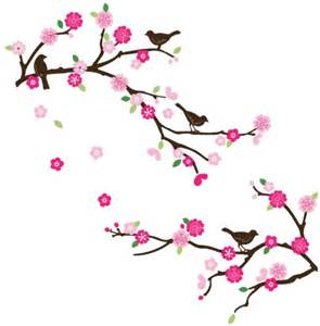Wall Stickers Cherry Blossom cherry blossom birds decorative nursery room wall sticker
