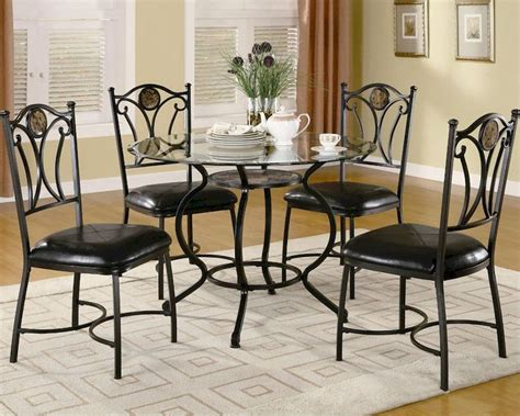 dining set with glass table top coaster dining set w glass table top altamonte co 150501set