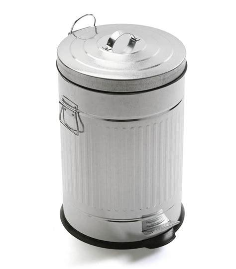 poubelle de cuisine int馮r馥 poubelle de cuisine r 233 tro en m 233 tal gris 20l wadiga com