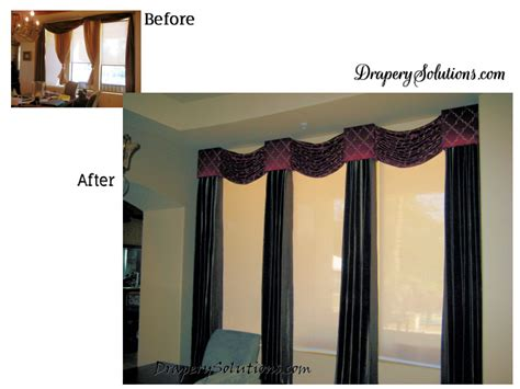 drapery solutions before and after photo gallery by drapery solutions