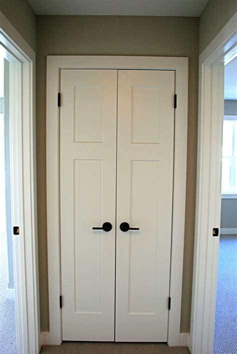Home Depot Interior Double Doors craftsmen style painted white interior doors with schlage