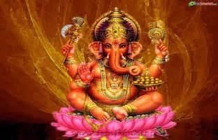 Ganesh On Lotus Ganesha Yajna 2015 Vedic Healing