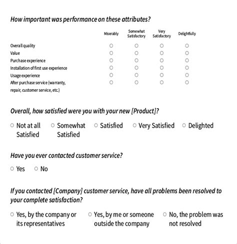 10 Survey Questions Templates Free Sle Exle Format Download Free Premium Templates Customer Satisfaction Survey Questions Template