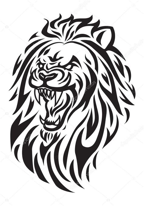 tatouage de t 234 te de lion photo 90206124