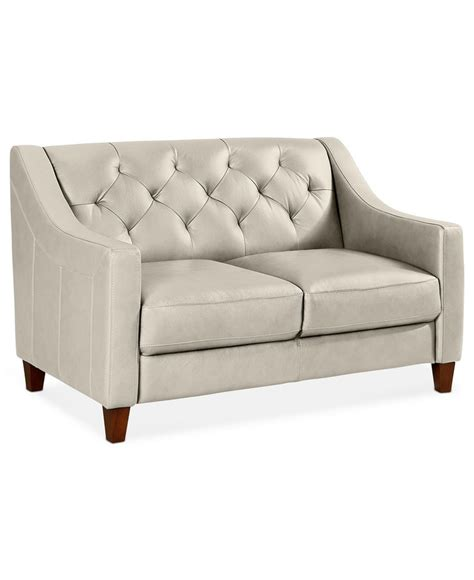 Macys Leather Furniture by Ii Leather Loveseat 53 Quot W X 35 Quot D X 33 Quot H Couches