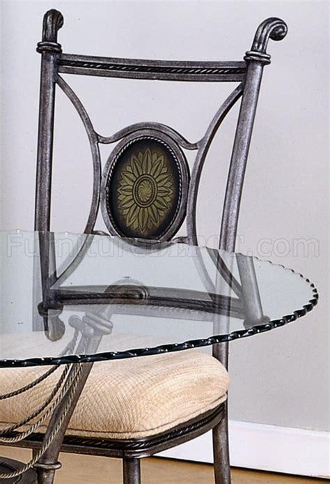 Glass Top Metal Base Modern Dining Table W Frosted Glass Glass Top Modern 5pc Dining Set W Gun Metal Base