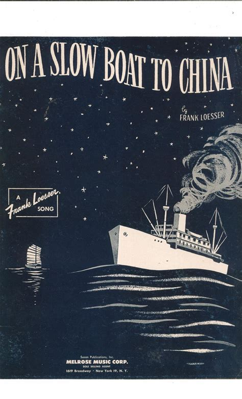 on a slow boat to china on a slow boat to china loesser sheet music melrose vintage